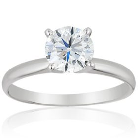 Superior Quality Collection 2 CT. T.W. Round Diamond Solitaire Ring in 18K Gold (I, VS2)