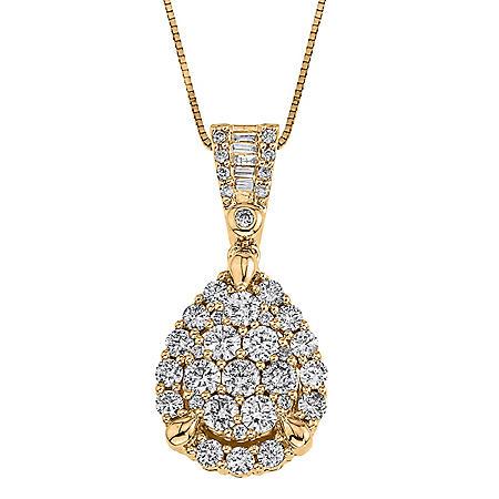 0.98 ct. t.w. Diamond Pendant in 14k Yellow Gold (I, I1)