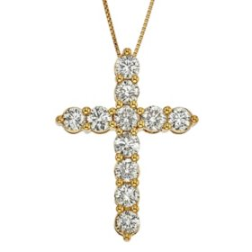 1.98 ct. t.w. Diamond Cross Pendant in 14k Yellow Gold (H-I, I1)
