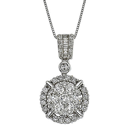 1.25 ct. t.w. Diamond Pendant in 14k White Gold (H-I, I1)