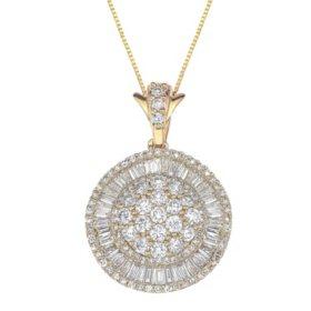 1.98 ct. t.w. Diamond Pendant in 14k Yellow Gold (I, I1)