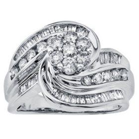 1.25 ct. t.w. Diamond Swirl Ring in 14k Gold (H-I, I1)