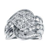 4.00 ct. t.w. Diamond Swirl Bridal Ring in 14k Gold (HI, I1)