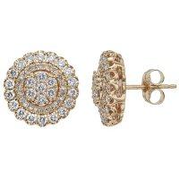 0.98 CT. T.W. Diamond Earrings in 14k Gold (H-I, I1)