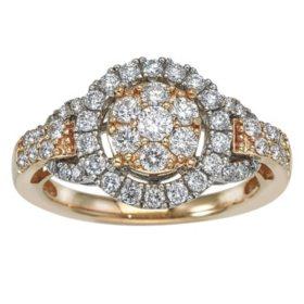 1.00 ct. t.w. Diamond Bridal Ring in 14k Gold (HI, I1)