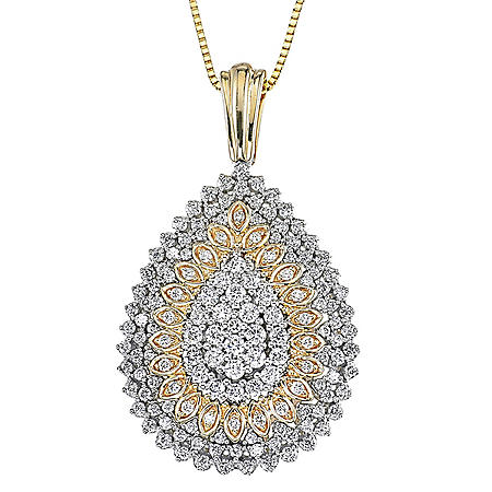 0.98 ct. t.w. Diamond Pendant in 14k Two Tone Gold (H-I, I1)