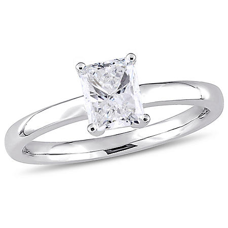 Allura 1 CT Radiant-Cut Diamond Engagement Ring in 14k White Gold