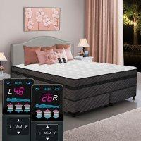 Dual Digital Millennium Box EuroTop Queen Air Bed and Foundation Set