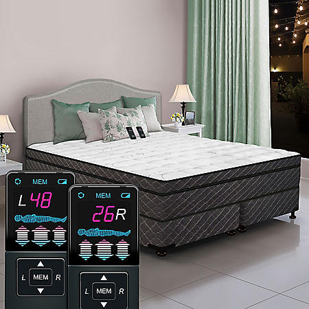 Dual Digital Reflections Eurostyle King Pillowtop Air Bed and Foundation Set
