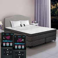 Dual Digital Visions Low-Profile King Pillowtop Air Bed and Foundation Set