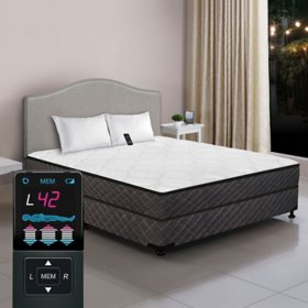 Dual Digital Princeton Low-Profile Tight Top Twin Air Bed and Foundation Set