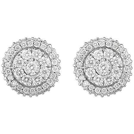0.95 CT. T.W. Diamond Earring in 14K White Gold