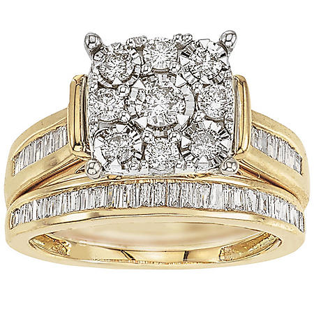1.00 ct. t.w. Diamond Bridal Set in 14k Gold (HI, I1)
