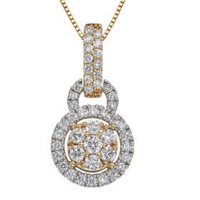 0.98 CT. T.W. Diamond Pendant in 14K Gold