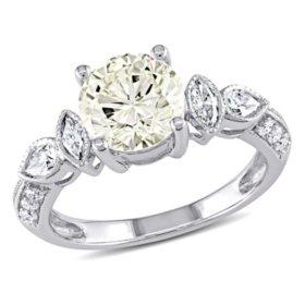 Allura 2.31 CT Diamond Vintage Engagement Ring in 14K White Gold