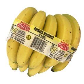 Bananera Pagen Guineos Maduros Bananas (3 lbs.)