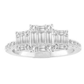 0.75 CT. T.W. Diamond Ring in 14 Karat White Gold