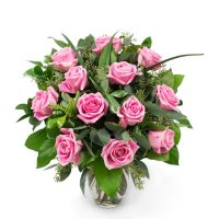 Rose Bouquet (Choose from 10 varieties; 12 or 18 stems, Vase Included)