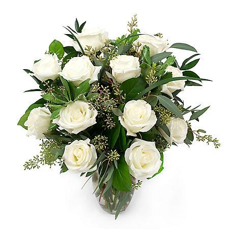 Rose Bouquet, White (Choose Stem Count)