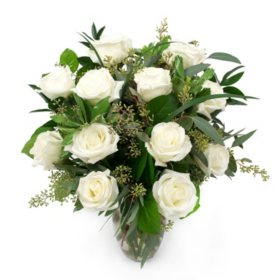 Rose Bouquet, White (Choose Stem Count)