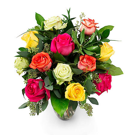 Rose Bouquet, Rainbow (Choose Stem Count)