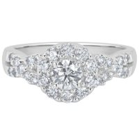 1.0 CT. T.W. Diamond Engagement Ring in 14K White Gold (H-I, I1)