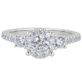 0.99 CT. T.W. Diamond Engagement Ring in 14K White Gold (H-I, I1)
