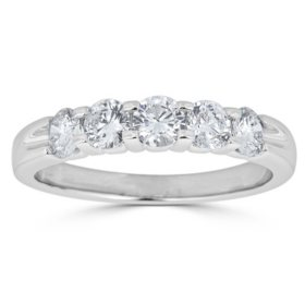 0.49 CT. T.W. 5-Stone Diamond Band Ring in 14K Gold (HI, I1)