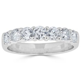 0.25 CT. T.W. 7-Stone Diamond Band Ring in 14K Gold (HI, I1)