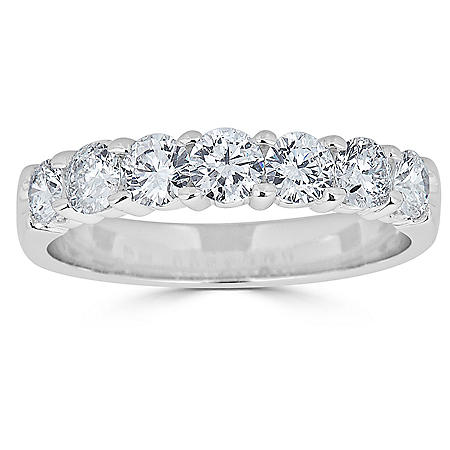 0.49 CT. T.W. 7-Stone Diamond Band Ring in 14K Gold (HI, I1)