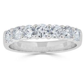 0.49 CT. T.W. 7-Stone Diamond Band Ring in 14K Gold (HI, I1)