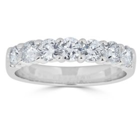 Jewelry & Watches Trend Mark Solitaire Engagement Natural Diamond Ring I1 H 1.30ct 14k Gold Prong Channel Set