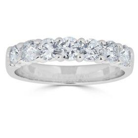 0.99 CT. T.W. 7-Stone Diamond Band Ring in 14K Gold (HI, I1)