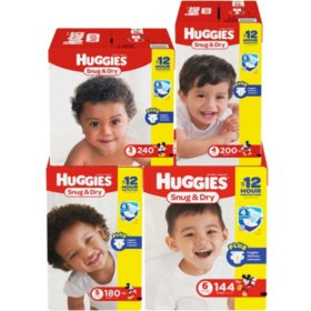 Huggies Snug & Dry Pick 3 Diaper Bundle (Choose Your Sizes)