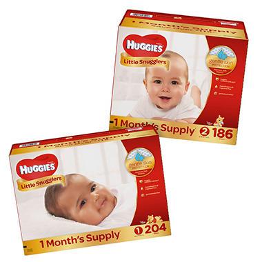 Huggies Little Snugglers Pick 3 Diaper Bundle (Choose Your Sizes)