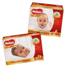 Huggies Little Snugglers Pick 3 Diaper Bundle (Choose Your Sizes)