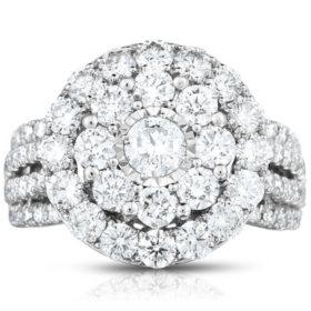 2.95 CT. T.W. Diamond Ring in 14K White Gold (HI-I1)
