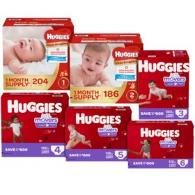 Huggies Pick 6 Diaper Bundle (Choose Your Sizes)