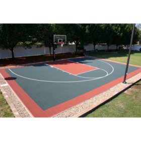 Half Court DIY Backyard Basketball System