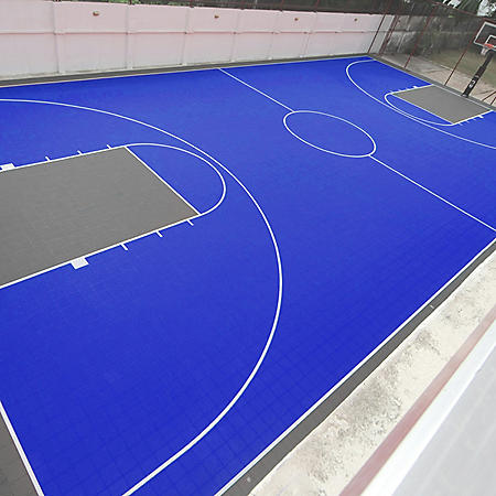 Full Court DIY Backyard Basketball System