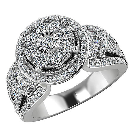 0.95 CT. T.W. Diamond Engagement Ring in 14K White Gold