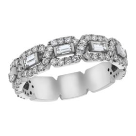 S Collection 1.0 CT. T.W. Diamond Baguette Anniversary Ring in 14K Gold