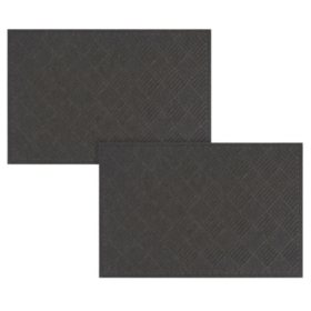 Crosshatch Heavy-Duty Commercial EcoMat Bundle (3x5 & 4x6)