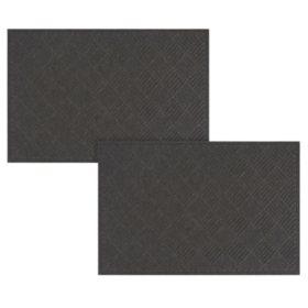 Crosshatch Heavy-Duty Commercial EcoMat Bundle (3x5 & 4x6)