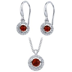 Sterling Silver Dancing Birthstone Set