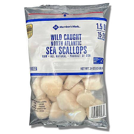 North Atlantic Sea Scallops, Frozen (1.5 lbs.)