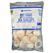 North Atlantic Sea Scallops, Frozen (1.5 lbs.)