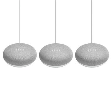 Google Home Mini 3-Pack (Choose Color)