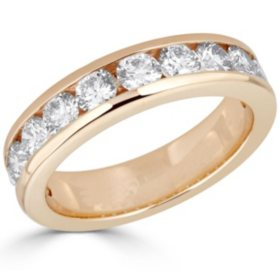 1.56 CT. T.W. 12-Stone Diamond Channel Set Band in 14K Yellow Gold (HI,I1)