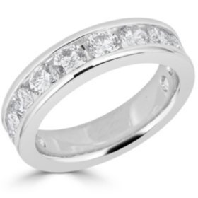 2.00 CT. T.W. 12-Stone Round Diamond Channel-Set Band Ring in 14K Gold (H-I, I1)